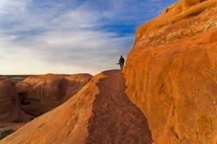 Dedichi l'arco in arché il parco nazionale, Utah fotografia stock libera da diritti