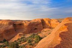 Dedichi l'arco in arché il parco nazionale, Utah fotografia stock