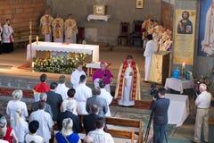 Dedikation av kyrkan. arkivbild