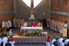 Dedikation av kyrkan. arkivfoton
