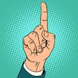 Dedo índice encima del gesto ilustración del vector