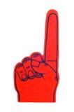 Dedo da espuma no vermelho Fotografia de Stock Royalty Free