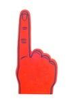 Dedo da espuma no vermelho Imagens de Stock Royalty Free