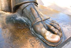 Dedo do pé afortunado da estátua de Grgur Ninski, separação Foto de Stock Royalty Free