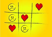 Dedo do pé amarelo do jogo de amor ilustração stock