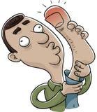 Dedo do pé arrancado Fotografia de Stock
