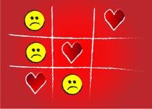 Dedo do pé do jogo de amor Imagem de Stock