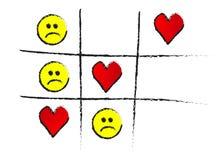 Dedo do pé do jogo de amor isolado Imagens de Stock