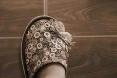 Dedo do pé e sapata da falta Imagens de Stock