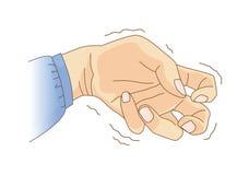 Dedo e de curvatura e de tremor do pulso sintoma ilustração do vetor