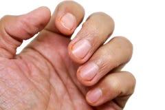 dedo e mão Fotos de Stock Royalty Free
