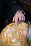Dedo global Foto de Stock