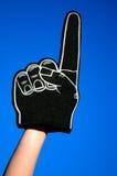 Dedo negro de la espuma Fotografía de archivo