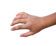 Dedo quebrado Imagen de archivo libre de regalías