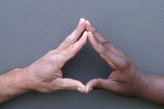Dedos conmovedores Imagen de archivo libre de regalías