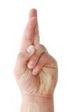 Dedos cruzados Imagem de Stock