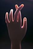 Dedos cruzados Fotografía de archivo libre de regalías