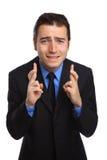 Dedos cruzados y que desean difícilmente Fotos de archivo