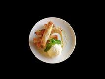 Dedos da pastelaria de Filo com gelado Fotos de Stock Royalty Free