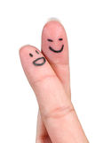 Dedos de la sonrisa Imagenes de archivo