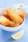 Dedos de peixes congelados Imagem de Stock