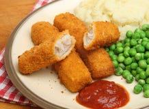 Dedos de peixes ou refeição da vara Imagens de Stock