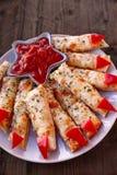Dedos de queijo da bruxa dos palitos Fotografia de Stock Royalty Free