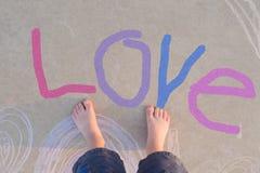 Dedos del pie del amor Foto de archivo libre de regalías