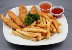 Dedos del pollo combinados Imagenes de archivo