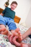 Dedos do pé agradados Fotos de Stock Royalty Free