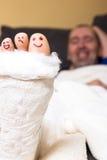 Dedos do pé engraçados Imagem de Stock