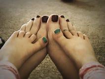 Dedos do pé pintados Foto de Stock Royalty Free