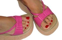 Dedos do pé bonitos Fotografia de Stock