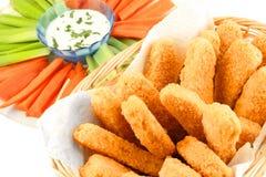 Dedos dourados da galinha Foto de Stock