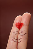 Dedos en amor Imagen de archivo libre de regalías