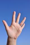Dedos hand- de la mujer los cinco se abren imagenes de archivo