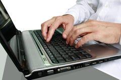 Dedos no teclado Fotografia de Stock Royalty Free