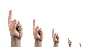 Dedos que apontam acima Foto de Stock Royalty Free