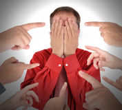 Dedos que apontam com vergonha da culpa Fotografia de Stock Royalty Free