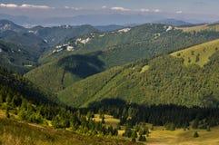 Dedosova dal på Velka Fatra Arkivbild