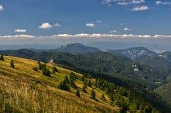 Dedosova dal på Velka Fatra Arkivfoton