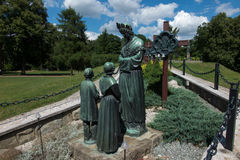 Dedowiec, Poland - July 20, 2016: Statue of Virgin Mary weeping Stock Images