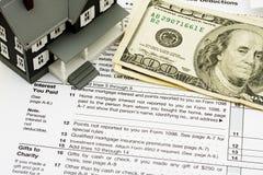 Deduca l'interesse da contratto ipotecario sulle tasse Immagini Stock Libere da Diritti