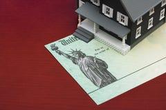 Deducciones de la hipoteca fotos de archivo