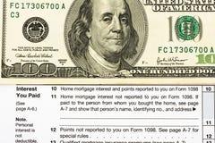 dedukcj federacyjny form rzeczy podatek Zdjęcie Stock