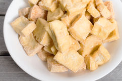 Dee зажарило кубы тофу Стоковое Изображение