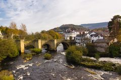 Dee Bridge Llangollen stock foto