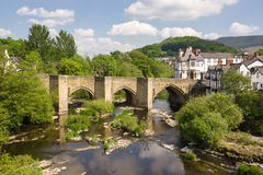 Dee Bridge Llangollen royalty-vrije stock foto's
