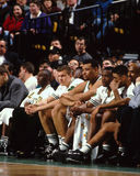 Dee Brown, and Boston Celtics bench. Stock Photo