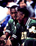 Dee Brown and Ed Pinckney, Boston Celtics Stock Photo